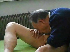 Chinese Grandpa Blowjob