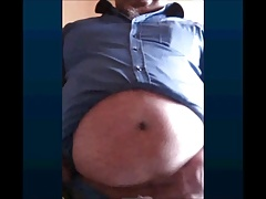 turkish grandpa shows his beautiful cock and balls