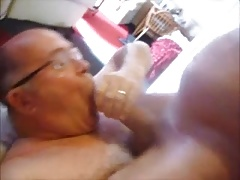 Grandpa gets a really huge dick