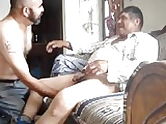 deep blowjob for  grandpa