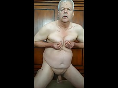 Dutch gay jerking off and eat cum - long version