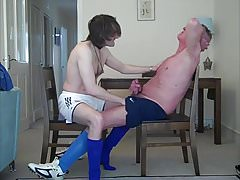 Horny dads in footy gear