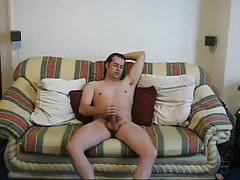 My Sofa Jerking With cumshot