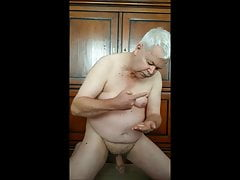 Dutch gay jerking off and eat his cum